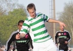 Alo Dupikov lõi lisaks Meistriliiga väravatele ka karikafinaali otsustava penalti. Foto: Siim Semiskar/ERR Sport