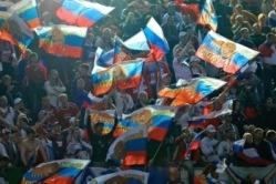 Venemaa poolehoidjatel oli tegus õhtu. Foto: nordicfootball.info