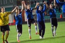 Meeleolukas võit Poola üle jäi aasta tipphetkeks. Foto: Hanna Odras