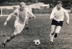 Peeter Priks (vasakul) 1970. aastal. Foto: Erakogu