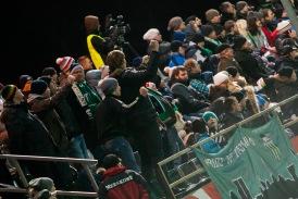 Superkarikafinaaliks on Sportland Arenal minimaalselt juba üks korralik tribüün. Foto: Gertrud Alatare