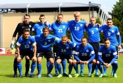 Eesti algkoosseis Soome vastu. Foto: Brit Maria Tael