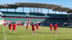 Rabotnicki mängueelne treening. Foto: FK Rabotnicki