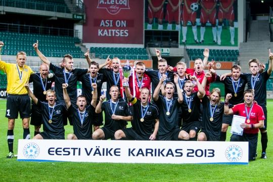 Mart Poomi kõrval polnud Annistele FCF Tallinna Ülikooli koosseisus võõrad isegi karikavõidud. Foto: Gertrud Alatare