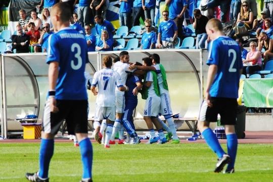 Kevin Ingermann (3) ja Johannes Kukebal (2) on norus: Kreeka võidab 4:1. Foto: Gertrud Alatare